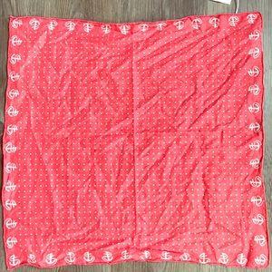 J.Crew scarf bandana Anchors and dots